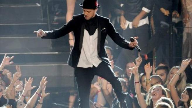 Justin Timberlake en los MTV Video Music Awards.