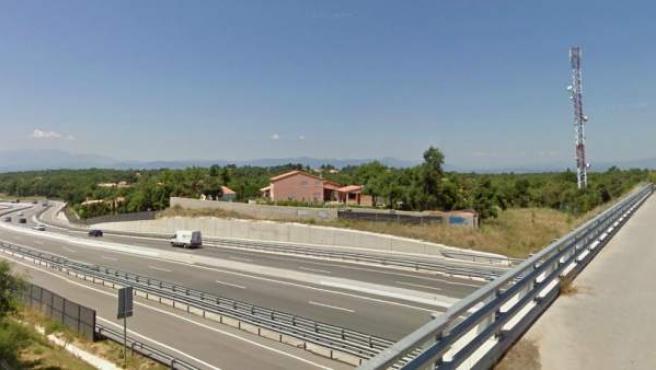 Imagen de la carretera donde se produjo el accidente.