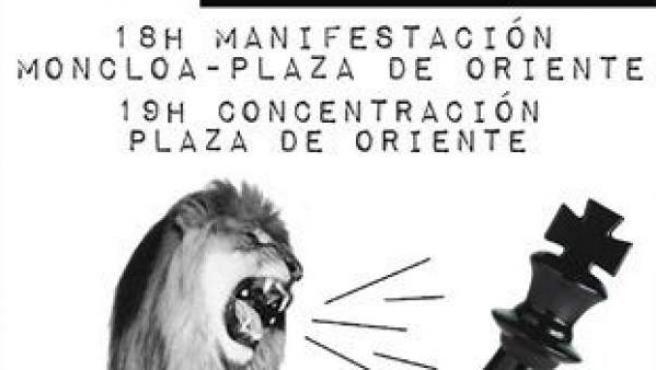 Cartel de la convocatoria 'Jaque al Rey'.
