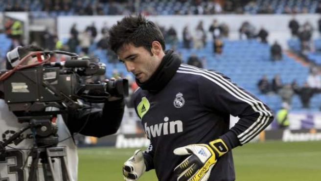 El portero del Real Madrid, Adán.