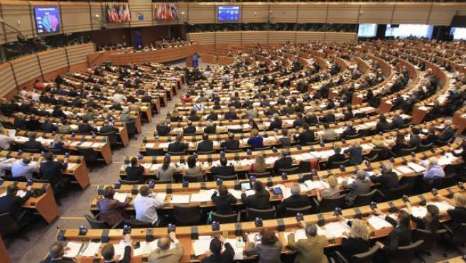 Vista general del Parlamento Europeo, en Bruselas, Bélgica.