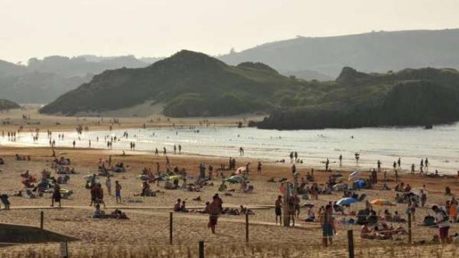 Playa del Ris, en Noja (Cantabria)