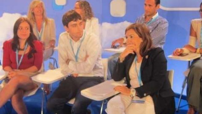 Soraya Sáez de Santamaría en la Escuela de Verano del PP en Gandia