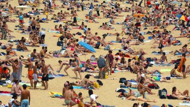 Una playa española, en una imagen de archivo.