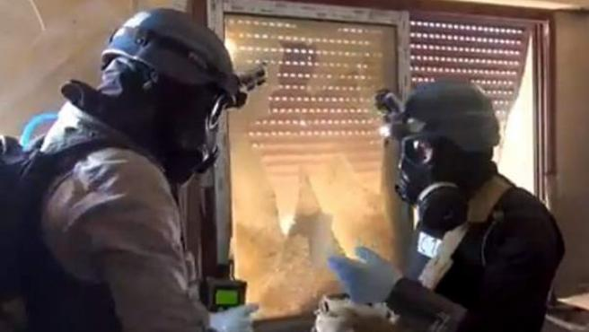 Inspectores de la ONU en Siria.