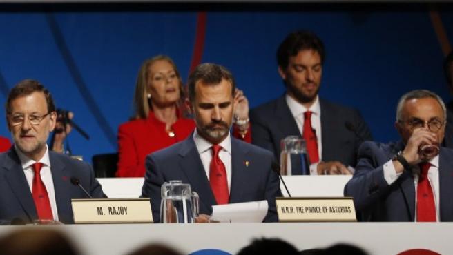 Miembros de la delegación española en Buenos Aires en favor d ela candidatura de Madrid 2020.