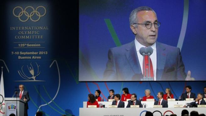 Alejandro Blanco durante la presentación de la candidatura de Madrid 2020.