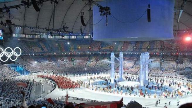 Ceremonia de inauguración de los Juegos Olímpicos de Invierno 2010 en Vancouver.