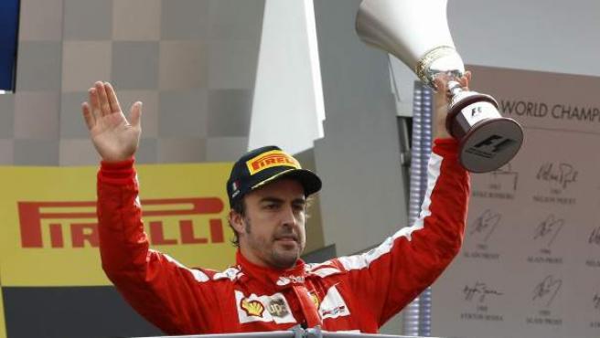 Fernando Alonso en Monza 2013.