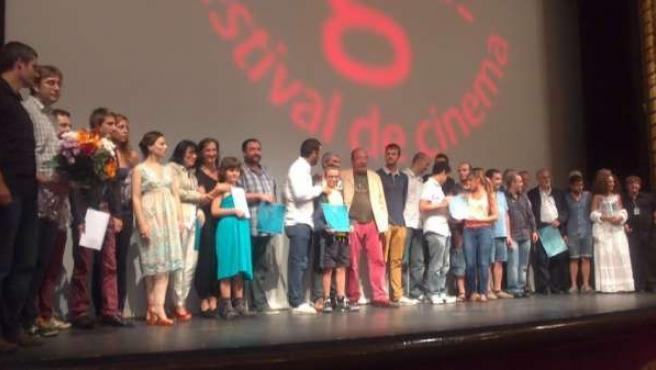 Los premiados en la XXV edición del Festival de Cine de Girona