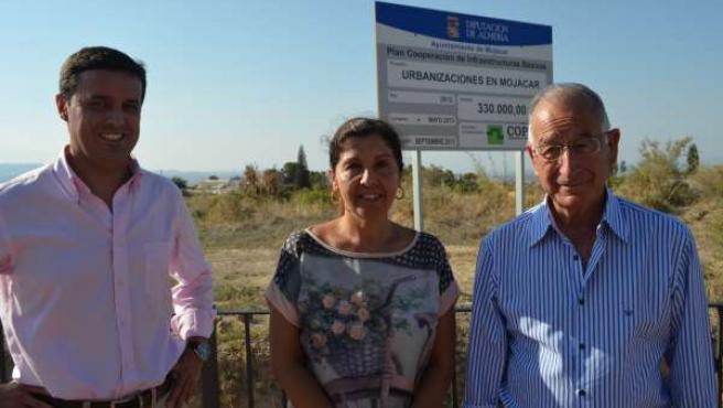 Amat visita obras de urbanización en Mojácar
