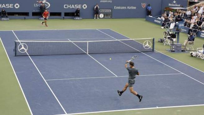 Rafa Nadal y Novak Djokovic durante la final del US Open 2013.