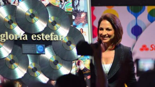 Gloria Estefan el pasado 24 de abril en una sesión de la Conferencia Latin Billboard en Miami, Florida
