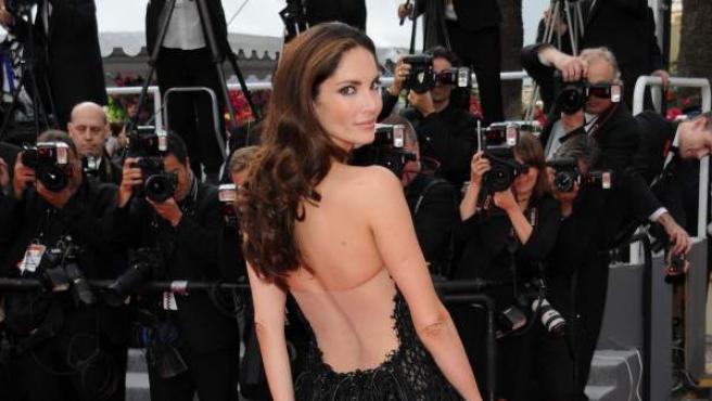 """La modelo española Eugenia Silva en el estreno de """"Poetry"""" en Cannes."""