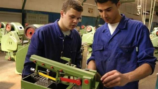 Dos alumnos de un módulo de Formación Profesional.