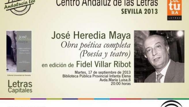 Fidel Villar presenta la obra poética y teatral de José Heredia