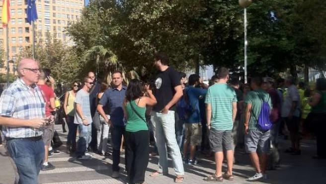 Miembros de plataformas y organizaciones apoyan a estudiantes detenidos
