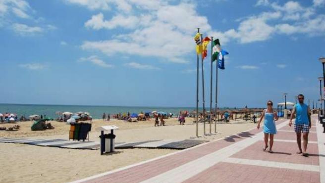 Imagen De La Playa Central De Isla Cristina