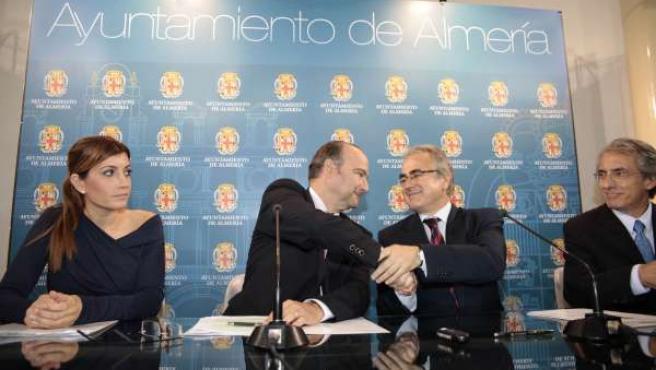 El alcalde de Almería y el director general de Instituciones Penitenciarias