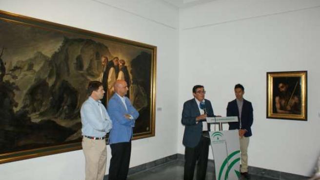 Acto de la Junta y Cepsa en el Museo Provincial de Huelva.