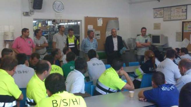 Paro de los trabajadores fijos de BSH
