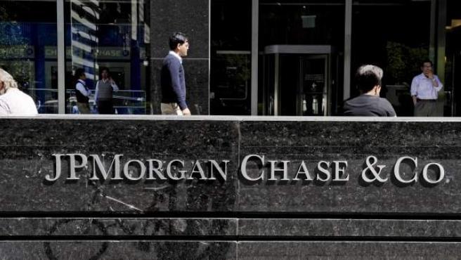 Anuncio del JPMorgan Chase, en Nueva York.