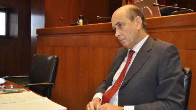 Rafael Fernández de Alarcón, en la comisión de las Cortes