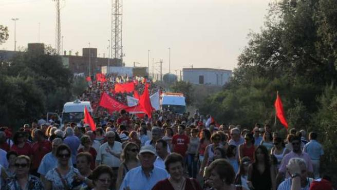 Manifestación para la apertura de la estación del AVE en Los Pedroches