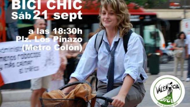 Cartel de la convocatoria 'Bici Chic'