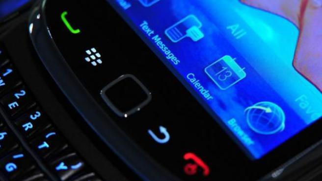 Detalle de una Blackberry.