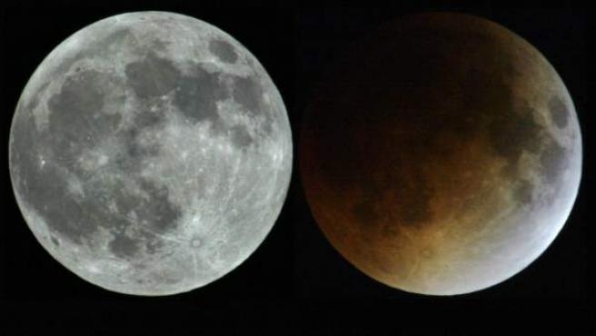 Doble imagen de la Luna durante un eclipse en 2004.