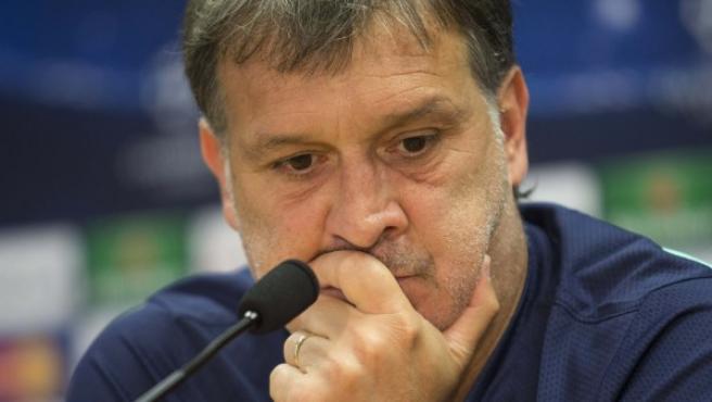 El Tata Martino, en rueda de prensa.