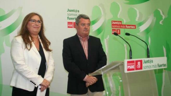 Luna y Ruiz en la rueda de prensa