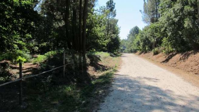 Lugar de Feros, en Cacheiras (Teo), donde apareció el cadáver de una menor