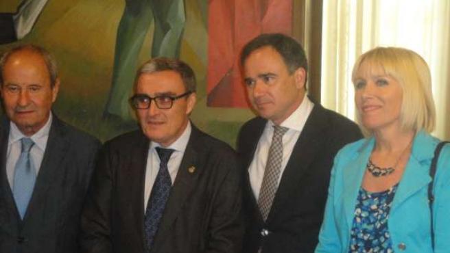 I.Llorens (PP), À.Ros, Xavier de Pedro (CHE) e I.Manso (PP)