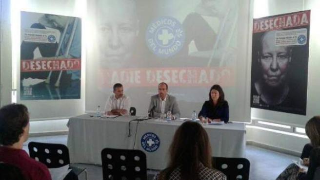 Rueda de prensa de Médicos del Mundo.