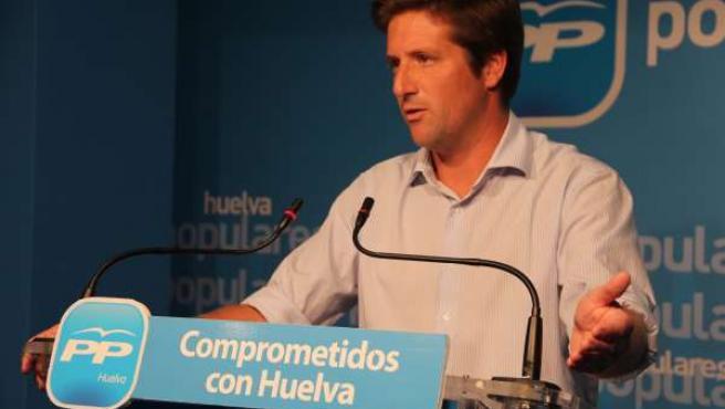 El secretario general del PP de Huelva, Guillermo García de Longoria