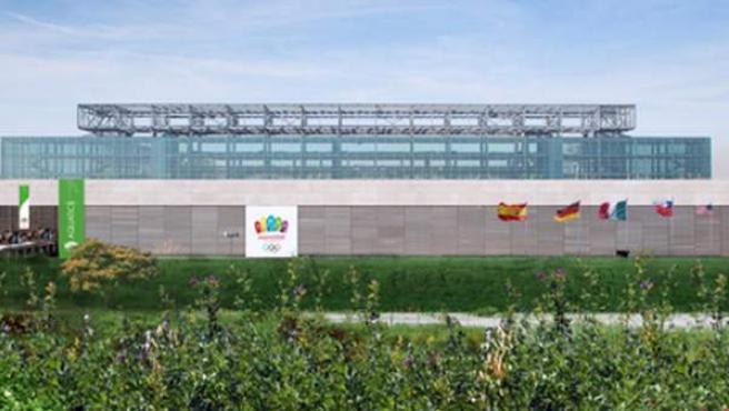 Recreación del Centro Acuático para Madrid 2020