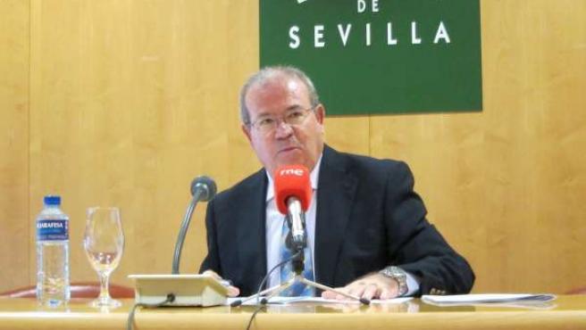 El portavoz del equipo de gobierno de la Diputación, Manuel Domínguez