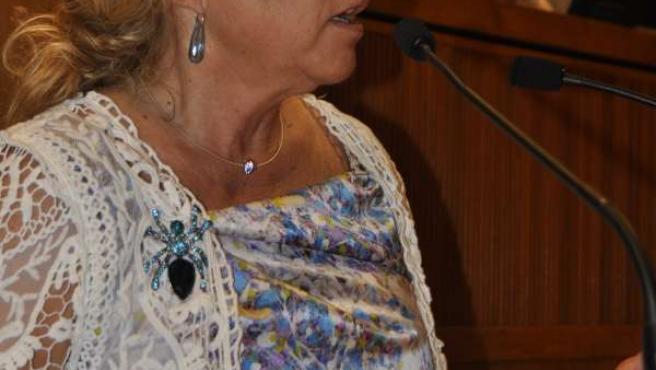 Dolores Serrat, en el pleno de las Cortes