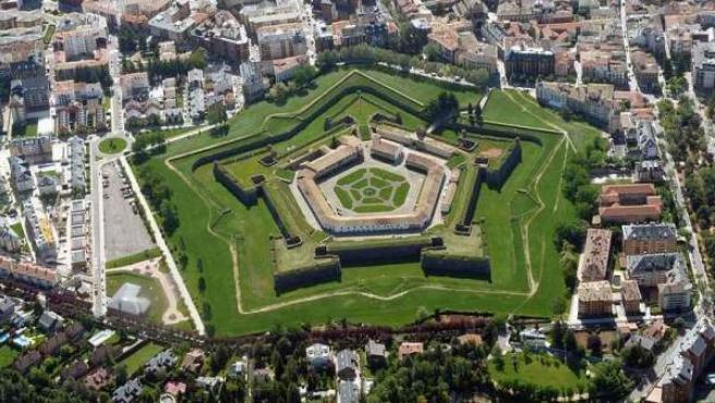 Vista aérea de la Ciudadela de Jaca.