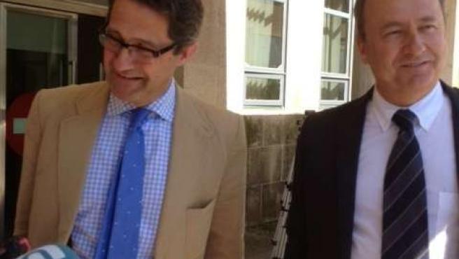 Gerardo Conde Roa y su abogado Ramón Sabín