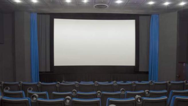Interior de una sala de cine.