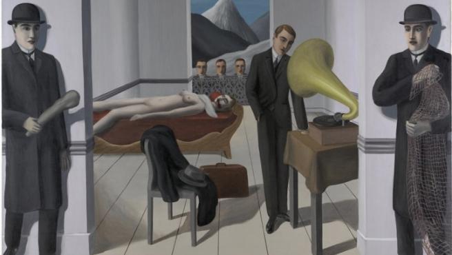 'El asesino amenazado' (1927), una de las obras de mayor tamaño y carga teatral de Magritte, surrealista belga