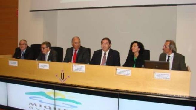 El conseller J.M. Pelegrí en la inauguración del Congreso de Avicultura