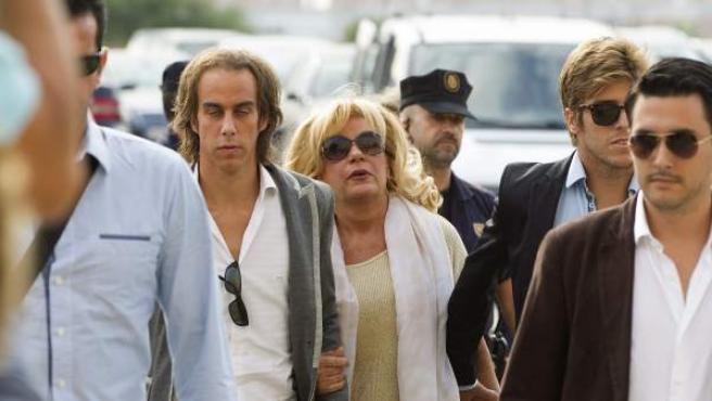 La exalcaldesa de Marbella Marisol Yagüe, una de los principales procesados del caso Malaya, a su llegada a la ciudad de la Justicia de Málaga. Yagüe ha sido condenada a seis años de cárcel y a pagar una multa de dos millones de euros.