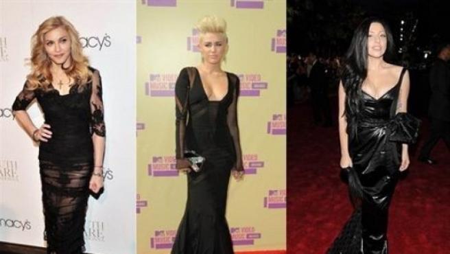 Madonna, Miley Cirus y Lady Gaga.