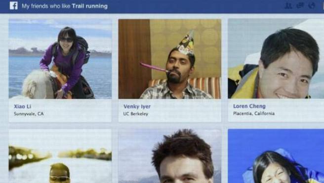 Nuevas búsquedas en Facebook.