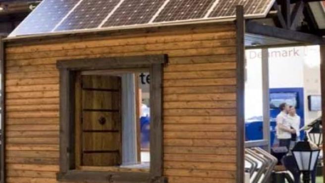 Una caseta con techo solar, en la edición 2010 de GENERA.