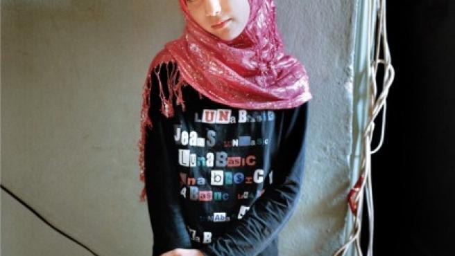 Samira, de 11 años, vive en un campo de refugiados en Beirut